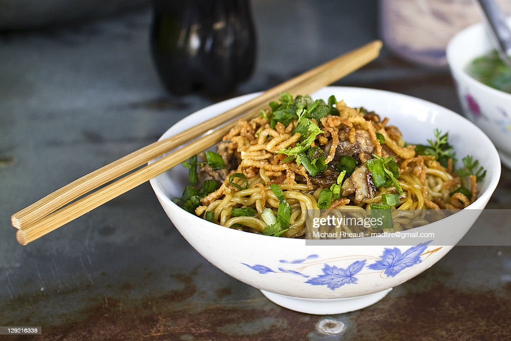 Chinese Noodles Hsipaw : Stock Photo