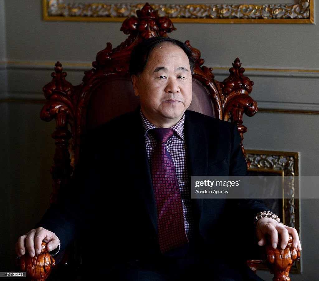 Chinese novelist and winner of the 2012 Nobel Prize in Literature <a gi-track='captionPersonalityLinkClicked' href=/galleries/search?phrase=Mo+Yan&family=editorial&specificpeople=3971964 ng-click='$event.stopPropagation()'>Mo Yan</a> visits Topkapi Palace after the meeting with Minister of Culture and Tourism Omer Celik at Topkapi Palace in Istanbul, Turkey on February 22, 2014.
