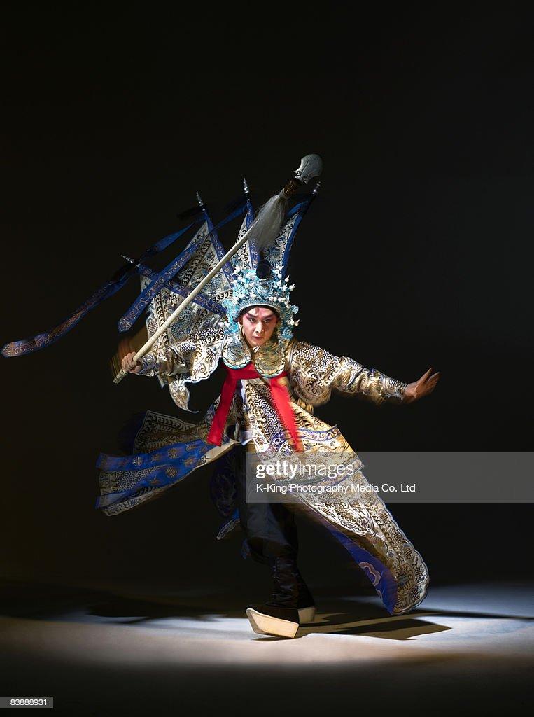 Chinese opera action (Zhao Yun)
