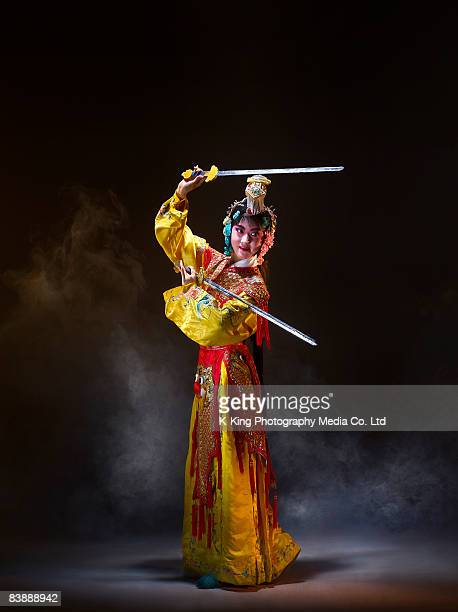 Chinese opera character with knives (Yu Ji)