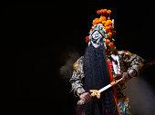 Chinese opera character with sword (Ba Wang)