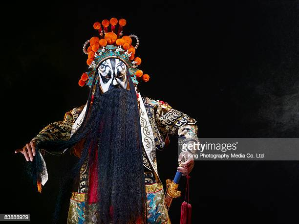 Chinese opera character with sword (Ba Wang)