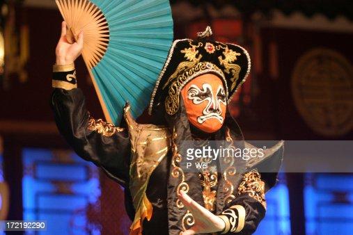 Chinesische Oper Masken Schauspieler