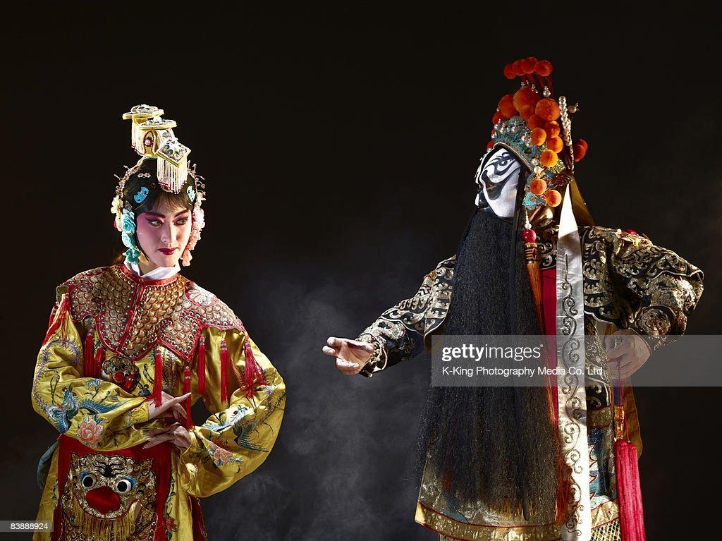 Chinese opera (Ba Wang and Yu Ji) : Stock Photo