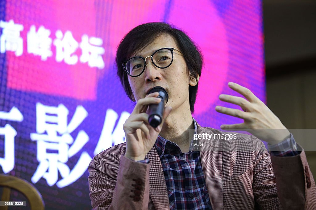 Chinese painter and art critic Lin Mingjie attends Urban Image of the Times - International Summit Forum of the 'One-Minute Film' Competition during the 22nd Shanghai TV Festival on June 8, 2016 in Shanghai, China.
