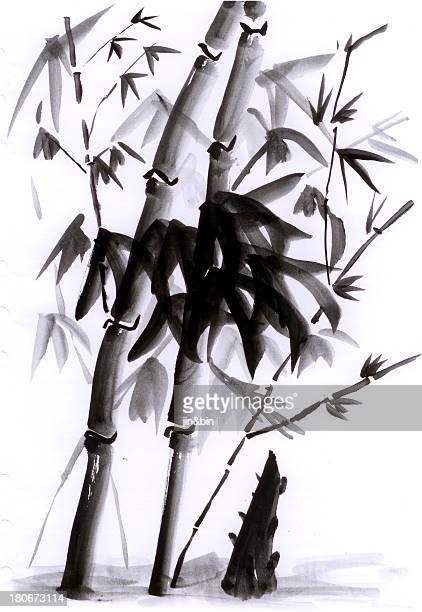 Chinese painting bamboo