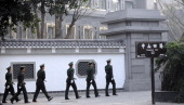 Chinese paramilitary police patrol the grounds of the Communist Party provincial headoffice in Chongqing on March 15 the office of Bo Xilai until now...