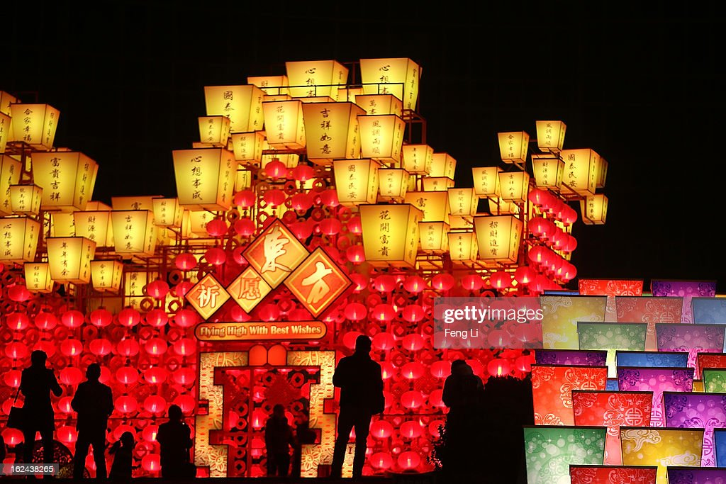 Chinese people visit a lantern show for the Chinese Lantern Festival which falls on February 24 and traditionally marks the end of the Lunar New Year celebrations on February 23, 2013 in Beijing, China.