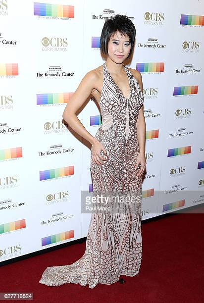 Chinese pianist Yuja Wang arrives at the 39th Annual Kennedy Center Honors at The Kennedy Center on December 4 2016 in Washington DC