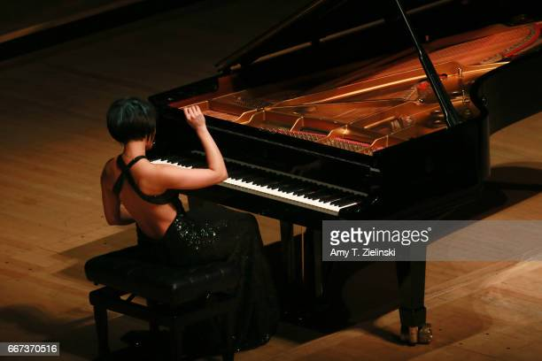 Chinese pianist Yuja Wang performs a solo piano recital of works by composers Chopin and Brahms as part of the Southbank Centre's International Piano...