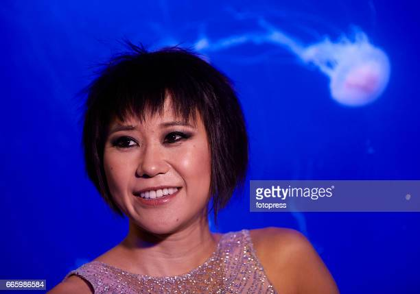 Chinese pianist Yuja Wang performs at the Oceanografic on April 7 2017 in Valencia Spain