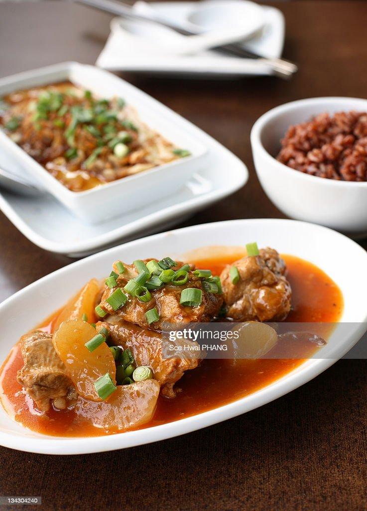 Chinese pork stew : Stock Photo