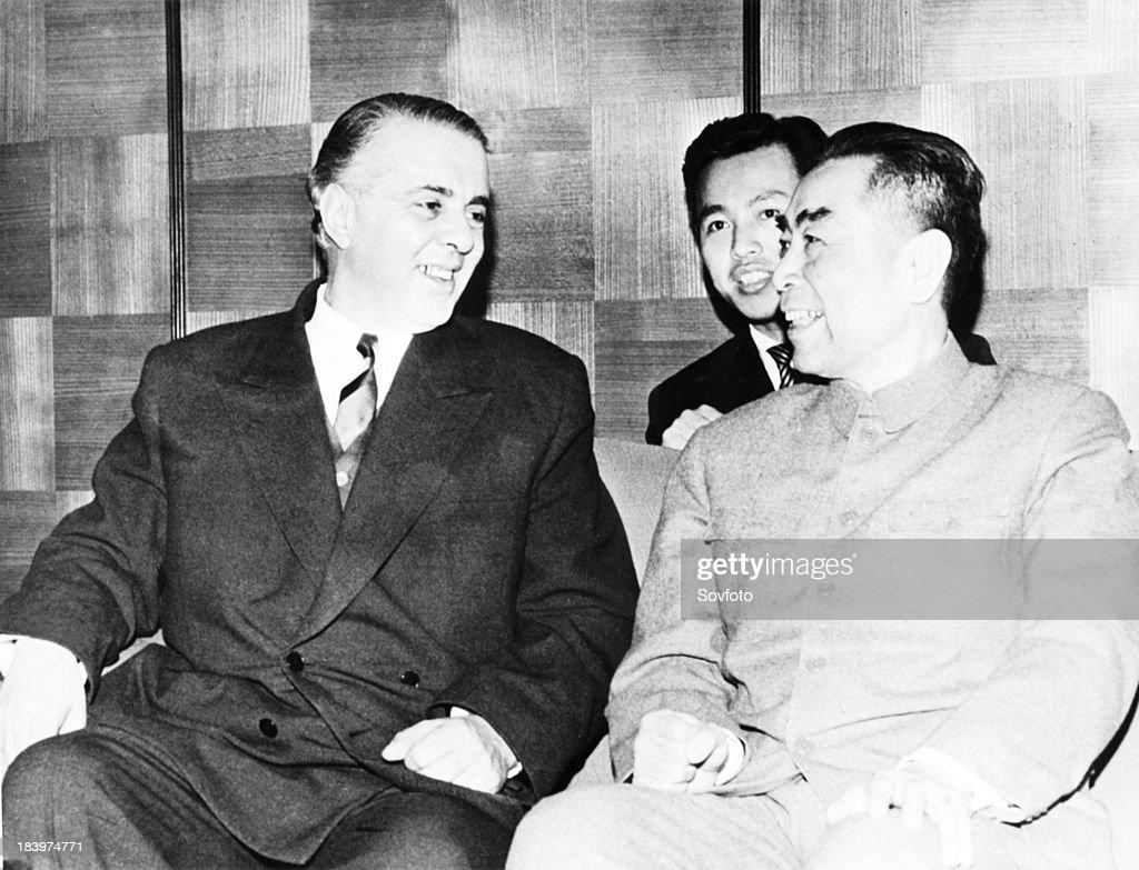 Chinese Premier Chou En Lai With Albanian Leader Enver Hoxha In 1963