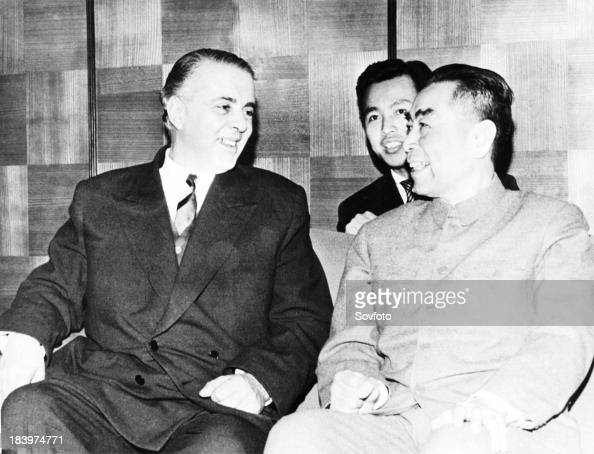 Chinese Premier Chou En Lai With Albanian Leader Enver Hoxha In 1963