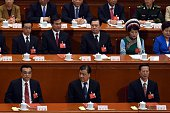 Chinese Premier Li Keqiang a member of the Standing Committee of the Political Bureau of the Communist Party of China Central Committee Liu Yunshan...