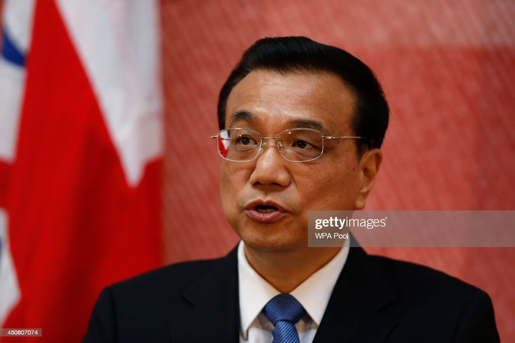 Chinese Premier <a gi-track='captionPersonalityLinkClicked' href=/galleries/search?phrase=Li+Keqiang&family=editorial&specificpeople=2481781 ng-click='$event.stopPropagation()'>Li Keqiang</a> (R) address the delegates of the UK-China Financial Forum at Lancaster House on June 18, 2014 in London, England. During his first official visit to the UK Mr Li will hold talks with British Prime Minister David Cameron and met the Queen at Windsor Castle. At the start of Mr Li's three-day visit, the Home Office announced a new visa service, to be offered to all Chinese visitors to the UK following a pilot programme for tour operators last year.