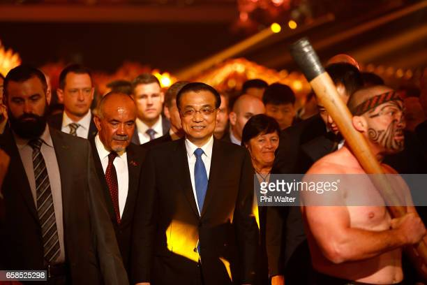 Chinese Premier Li Keqiang arrives for a Trade and Enterprise function at the Langham Hotel on March 28 2017 in Auckland New Zealand The Chinese...