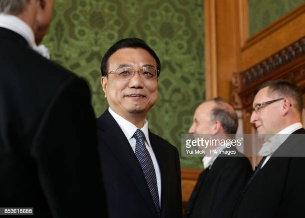 Chinese Premier Li Keqiang during his visit to the House of Lords in London
