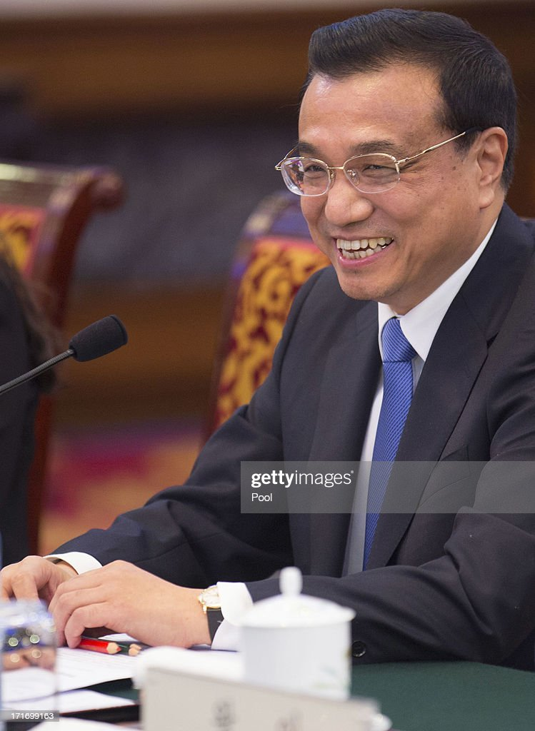 Chinese Premier <a gi-track='captionPersonalityLinkClicked' href=/galleries/search?phrase=Li+Keqiang&family=editorial&specificpeople=2481781 ng-click='$event.stopPropagation()'>Li Keqiang</a> meets with South Korean President Park Geun-Hye (not in picture) at the Diaoyutai State Guesthouseon June 28, 2013 in Beijing, China. South Korean President Park Geun-Hye is on a four-day visit to China.