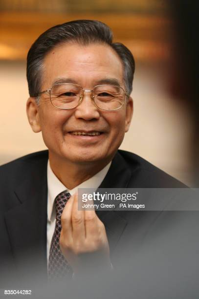 Chinese Premier Wen Jiabao attends a meeting with young business people at the Mandarin Oriental Hotel in Knightsbridge west London