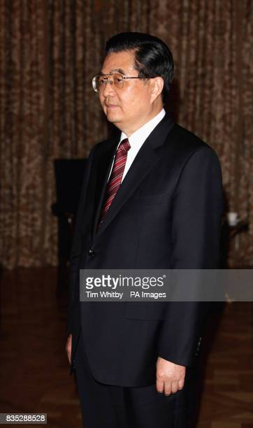 Chinese President Hu Jintao during a meeting with the Prince of Wales at The Mandarin Oriental Hotel London