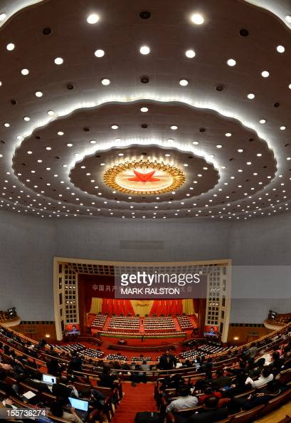 Chinese President Hu Jintao gives a speech at the opening session of the Chinese Communist Party's fiveyearly Congress at the Great Hall of the...