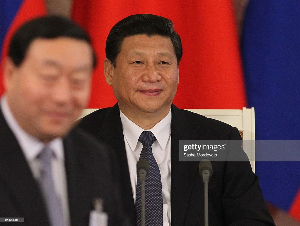 Chinese President <a gi-track='captionPersonalityLinkClicked' href=/galleries/search?phrase=Xi+Jinping&family=editorial&specificpeople=2598986 ng-click='$event.stopPropagation()'>Xi Jinping</a> attends a meeting with Russian President Vladimir Putin in the Grand Kremlin Palace March 22, 2013 in Moscow, Russia, Xi is making his first foreign visit as China's leader in a move described as demonstrating the two countries' economic interdependence.