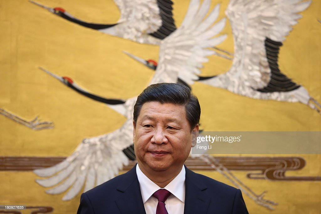 Chinese President <a gi-track='captionPersonalityLinkClicked' href=/galleries/search?phrase=Xi+Jinping&family=editorial&specificpeople=2598986 ng-click='$event.stopPropagation()'>Xi Jinping</a> attends a signing ceremony with King Abdullah II bin Al Hussein of Jordan at the Great Hall of People on September 18, 2013 in Beijing, China. At the invitation of Chinese President <a gi-track='captionPersonalityLinkClicked' href=/galleries/search?phrase=Xi+Jinping&family=editorial&specificpeople=2598986 ng-click='$event.stopPropagation()'>Xi Jinping</a>, King Abdullah II bin Al Hussein of Jordan paid a state visit to China from September 15 to 18.