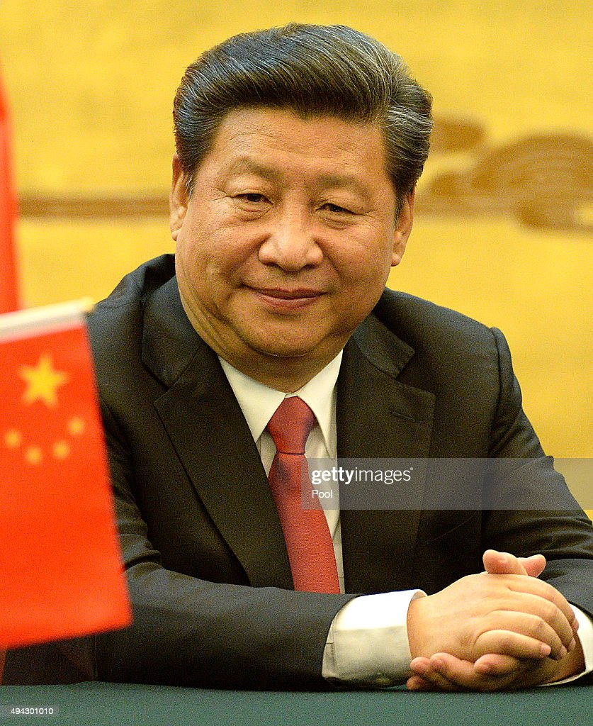 Chinese President <a gi-track='captionPersonalityLinkClicked' href=/galleries/search?phrase=Xi+Jinping&family=editorial&specificpeople=2598986 ng-click='$event.stopPropagation()'>Xi Jinping</a> attends a signing ceremony with King Willem-Alexander of the Netherlands at the Great Hall of the People on October 26, 2015 in Beijing, China.