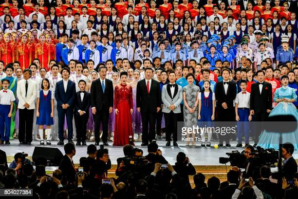 Chinese President Xi Jinping attends Grand Vareity Show on June 30 2017 in Hong Kong Hong Kong Chinese President Xi Jinping made a visit to Hong Kong...