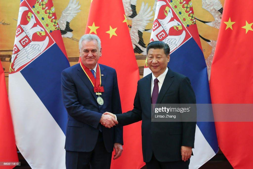 Serbian President Tomislav Nikolic Visits China