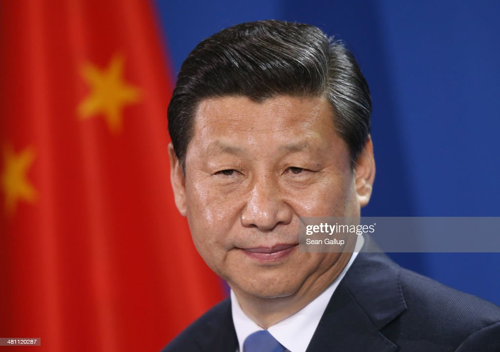 Chinese President <a gi-track='captionPersonalityLinkClicked' href=/galleries/search?phrase=Xi+Jinping&family=editorial&specificpeople=2598986 ng-click='$event.stopPropagation()'>Xi Jinping</a> speaks to the media with German Chancellor Angela Merkel (not pictured) following talks and the signing of bilateral agreements at the Chancellery on March 28, 2014 in Berlin, Germany. President <a gi-track='captionPersonalityLinkClicked' href=/galleries/search?phrase=Xi+Jinping&family=editorial&specificpeople=2598986 ng-click='$event.stopPropagation()'>Xi Jinping</a> is on a two-day official visit to Germany.