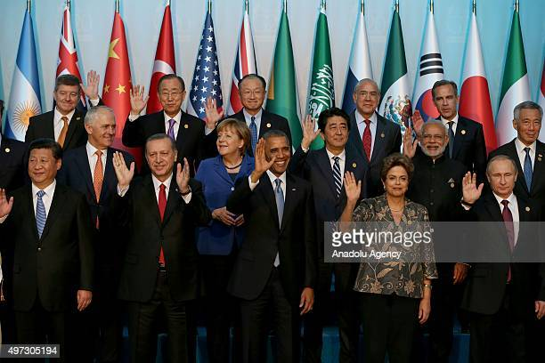 Chinese President Xi Jinping Turkish President Recep Tayyip Erdogan US President Barack Obama Brazilian President Dilma Rousseff Russian President...