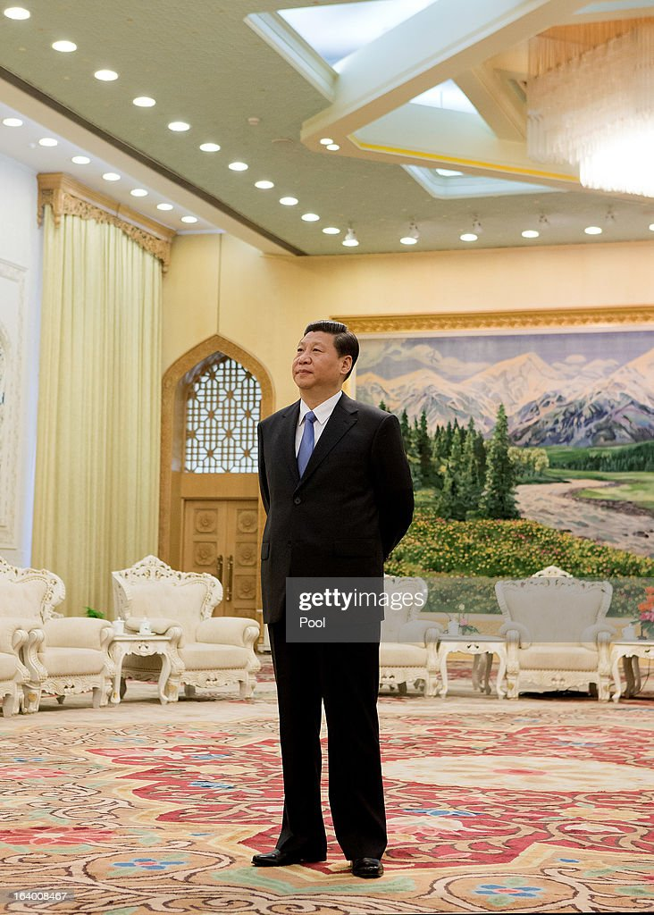 Chinese President Xi Jinping waits to meet U.S. Treasury Secretary Jacob Lew at the Great Hall of the People on March 19, 2013 in Beijing, China. Chinese leader Xi Jinping spoke of wanting strong ties with the U.S. after holding talks with the US Treasury secretary Jacob Lew today in his first meeting with a foreign official since being appointed as president.