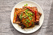 Chinese sauce braised tofu