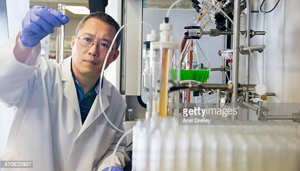 Chinese scientist working in lab