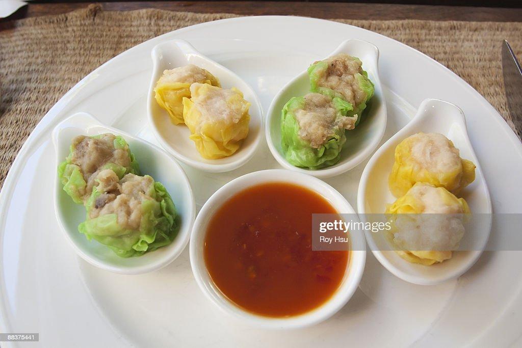 Chinese Shumai dumplings on plate : Stock Photo