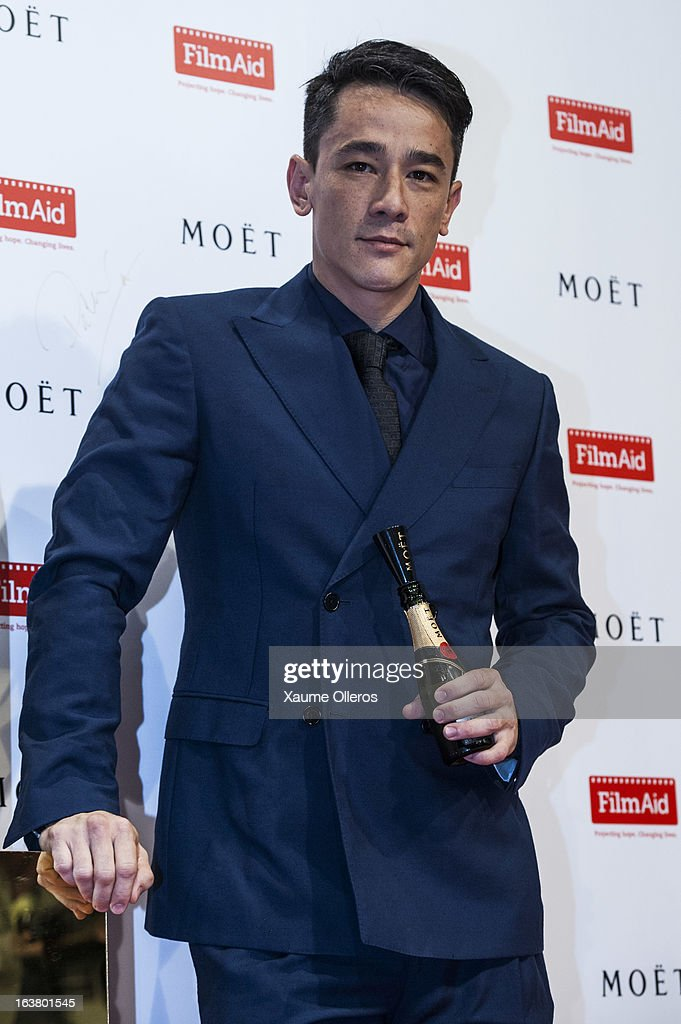 Chinese singer and actor Terence Yin attends at the Moet & Chandon and FilmAid Asia Power of Film Gala at Clear Water Bay Film Studios on March 16, 2013 in Hong Kong, Hong Kong.