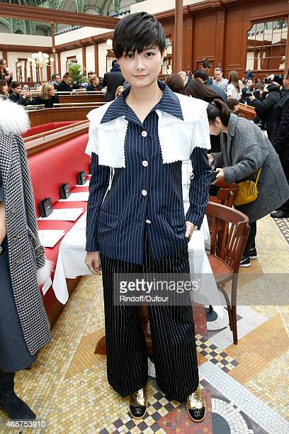 Chinese singer Chris Lee attends the Chanel show as part of the Paris Fashion Week Womenswear Fall/Winter 2015/2016 on March 10 2015 in Paris France