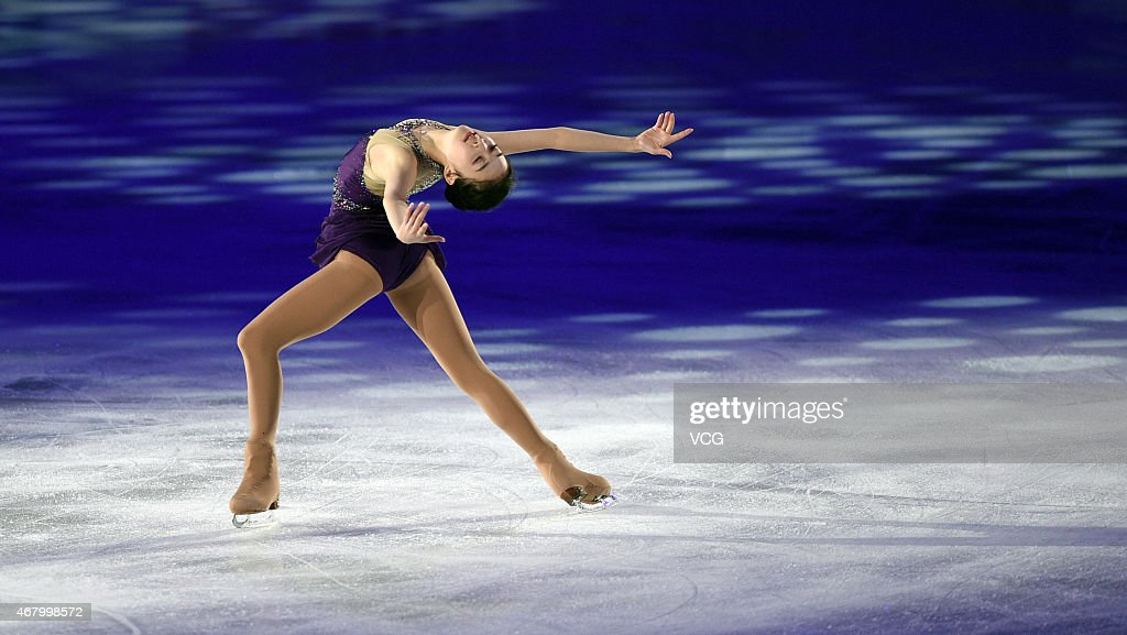 Chinese skater <a gi-track='captionPersonalityLinkClicked' href=/galleries/search?phrase=Li+Zijun&family=editorial&specificpeople=7380389 ng-click='$event.stopPropagation()'>Li Zijun</a> performs figure skating during day five of 2015 Shanghai World Figure Skating Championships on March 29, 2015 in Shanghai, China.