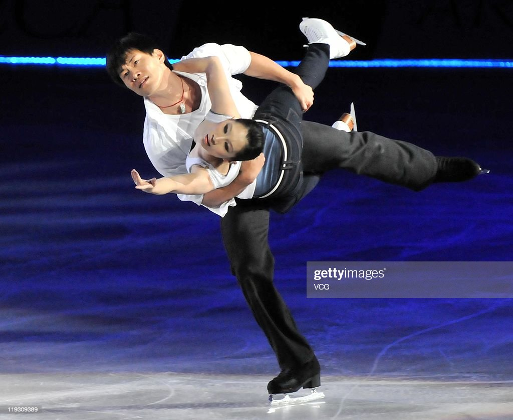 Chinese skaters <a gi-track='captionPersonalityLinkClicked' href=/galleries/search?phrase=Zhang+Dan&family=editorial&specificpeople=813902 ng-click='$event.stopPropagation()'>Zhang Dan</a> and <a gi-track='captionPersonalityLinkClicked' href=/galleries/search?phrase=Zhang+Hao&family=editorial&specificpeople=813903 ng-click='$event.stopPropagation()'>Zhang Hao</a> perform at Artistry On Ice at Capital Indoor Stadium on July 16, 2011 in Beijing, China.