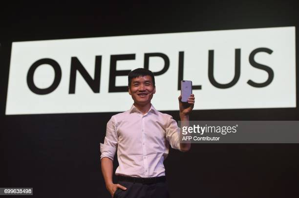 Chinese smartphone manufacturer OnePlus CEO Pete Lau attends an event to launch the new OnePlus 5 handset in Mumbai on June 22 2017 PARANJPE