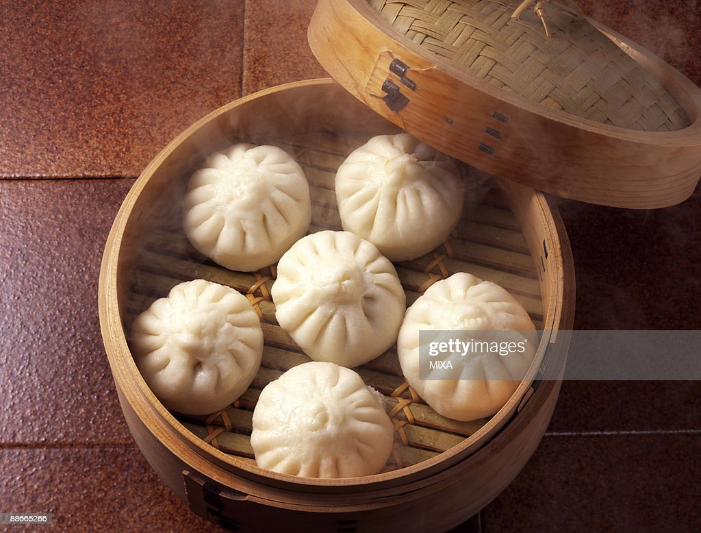 Chinese steamed bun  : Stock Photo