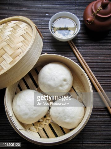 Chinese Steamed Lotus Buns