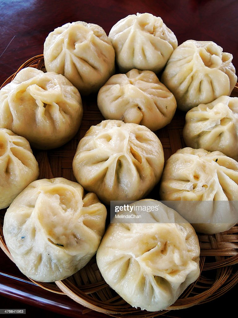 Chinese Steamed meat buns : Stock Photo