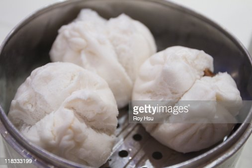 Chinese Steamed Pork Buns : Stock Photo