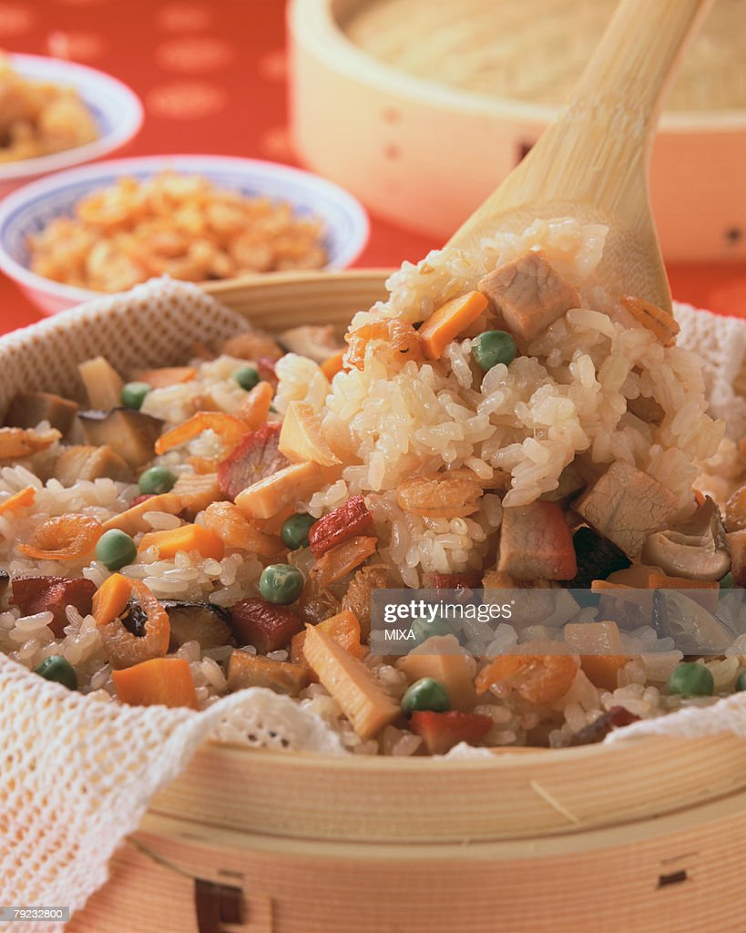 Chinese Steamed Rice : Stock Photo