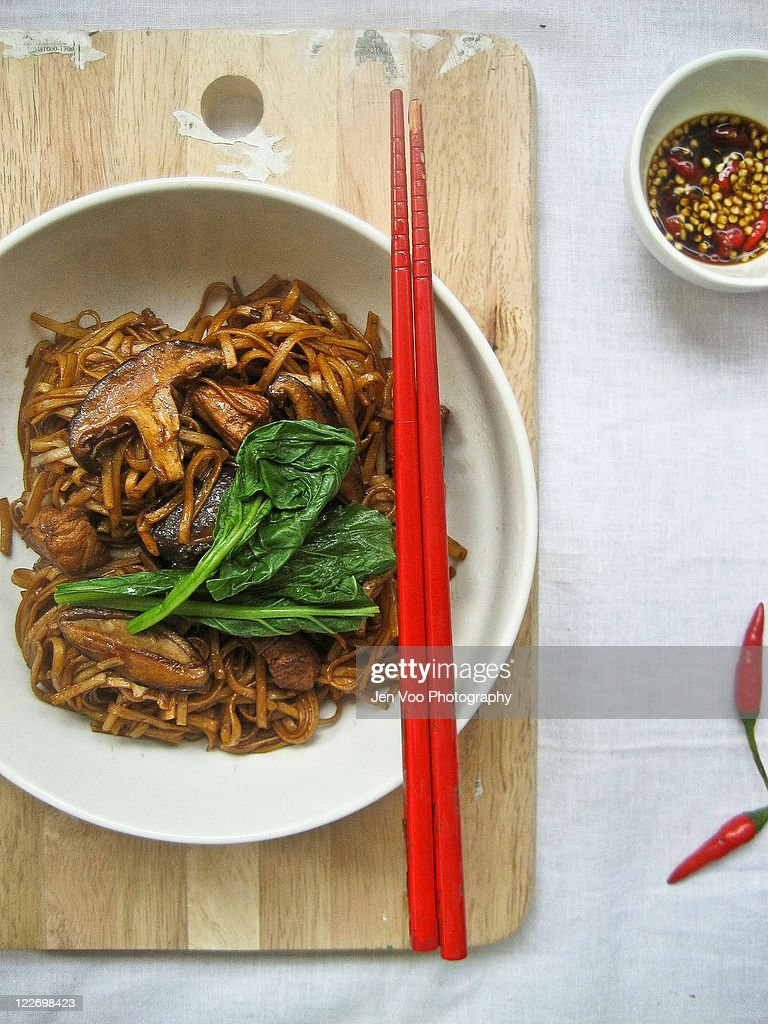 Chinese stir fried noodles : Stock Photo