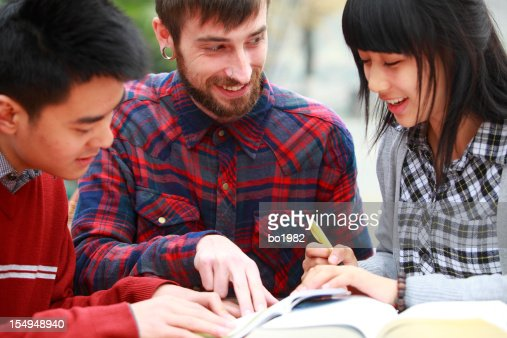 Chinese students learning english