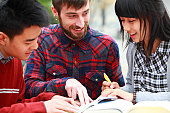 Estudiantes aprendizaje de inglés China